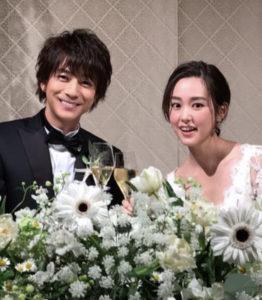 三浦翔平と桐谷美玲の結婚式