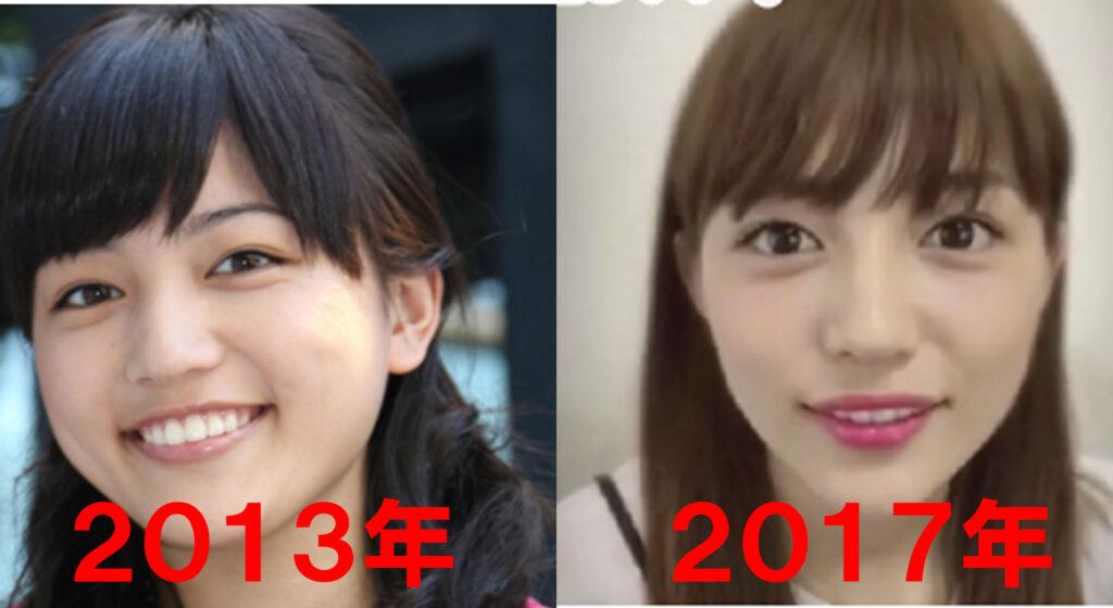 川口春奈の顔の比較画像