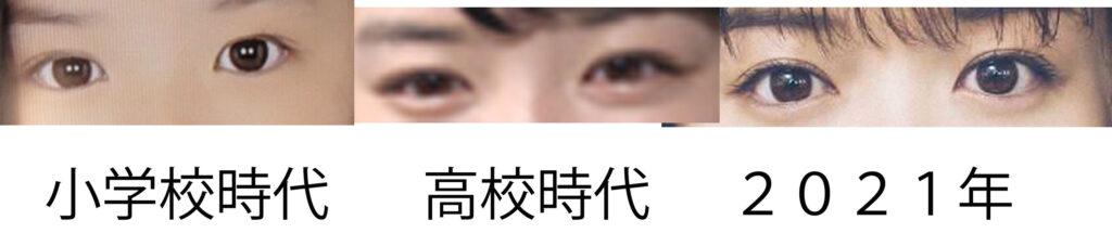 永野芽郁の目の画像比較