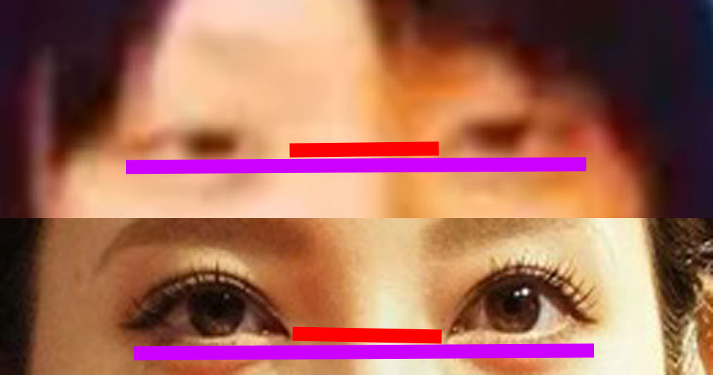 菜々緒の目の比較画像