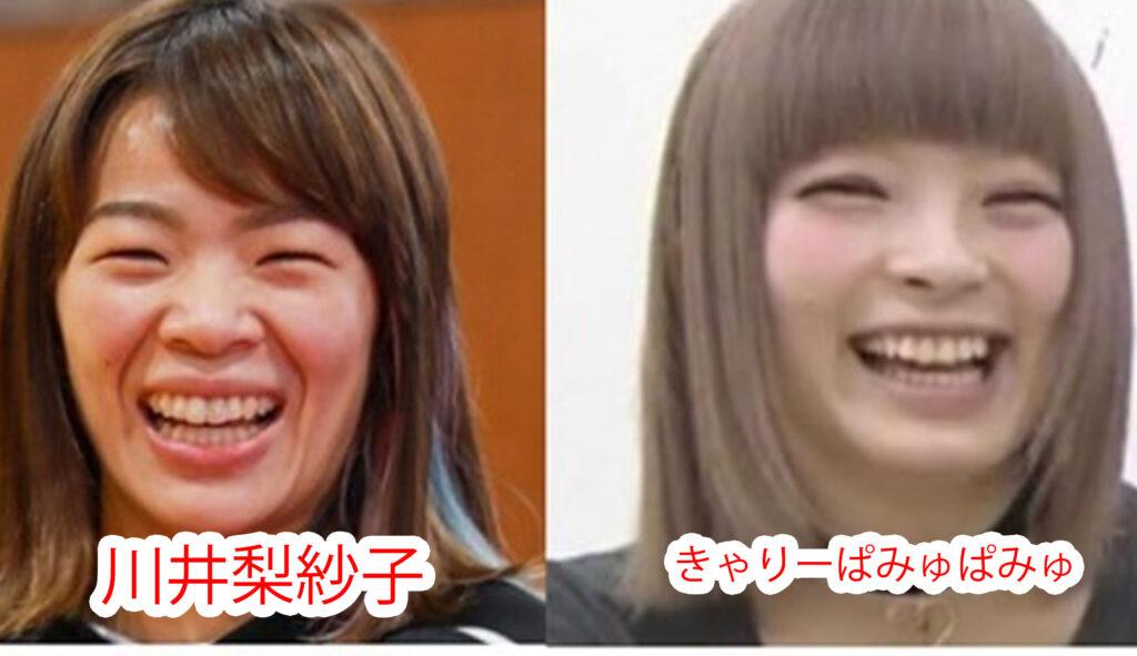 川井梨紗子ときゃりーぱみゅぱみゅの比較画像