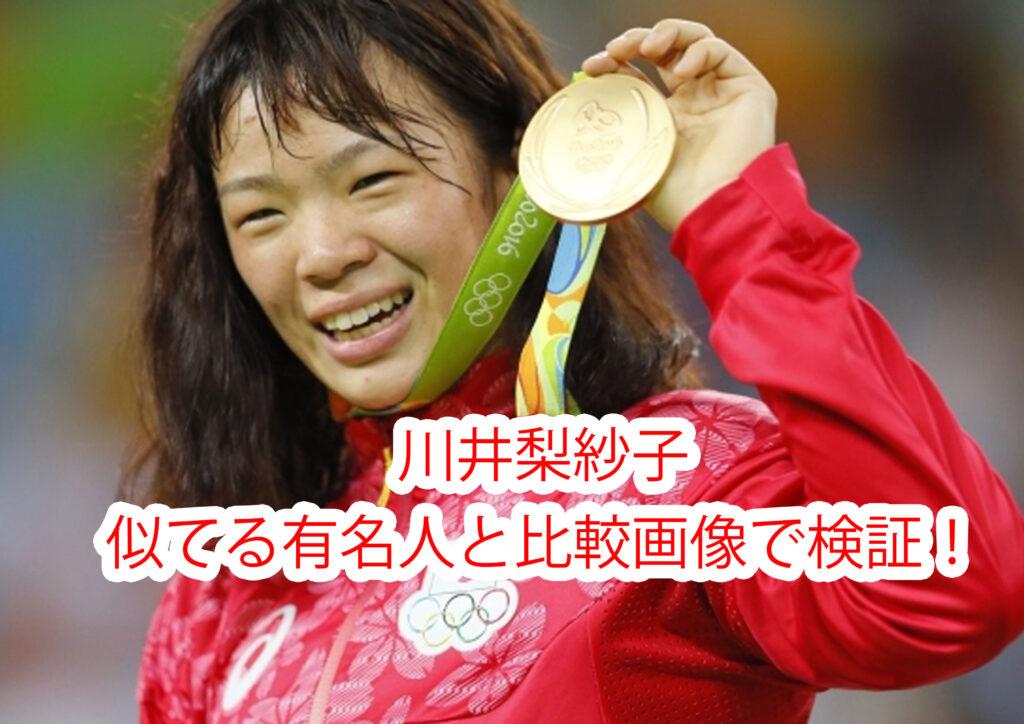 川井梨紗子 似ている ゴリラ 有名人 比較画像