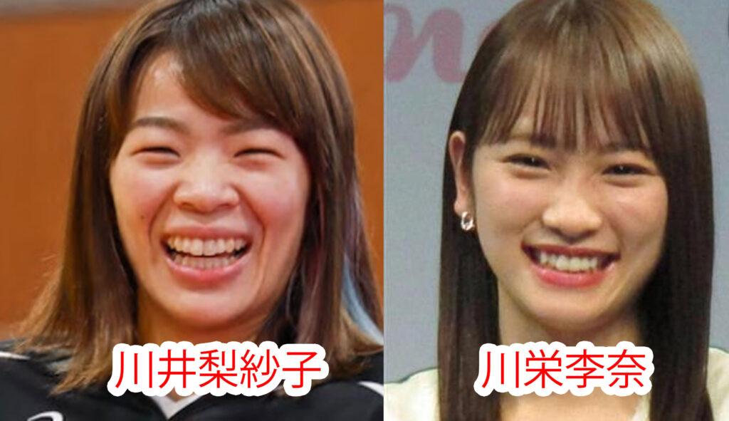 川井梨紗子と川栄李奈の比較画像